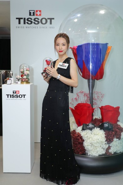 【美麗成熟時—Lady Heart Flower 80小時動力儲存系列發佈會】特別嘉賓: 鄧麗欣小姐 Special guest Miss Stephy Tang Photo from Facebook of Tissot