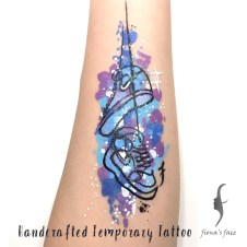 handcrafted temporary tattoo, hand painting by artist Fiona