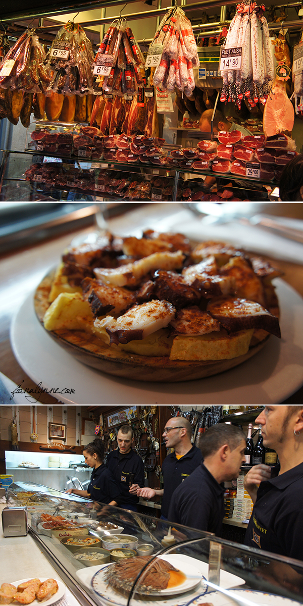 Food in Barcelona - tapas, markets, bars...