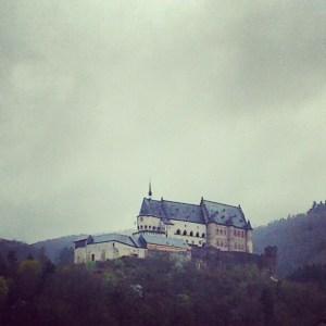 Vianden Castle in the rain