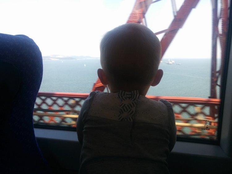 Forth Rail Bridge and baby