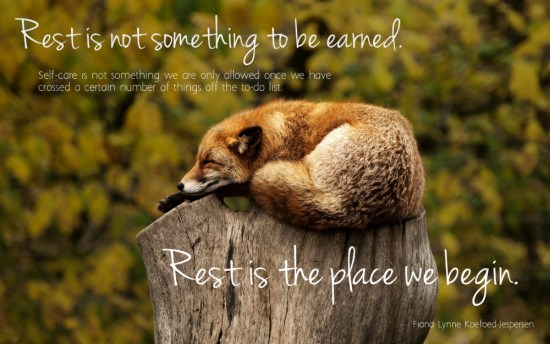 Rest is the place we begin – learning a new rhythm for living