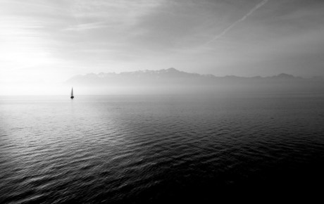 misty water image