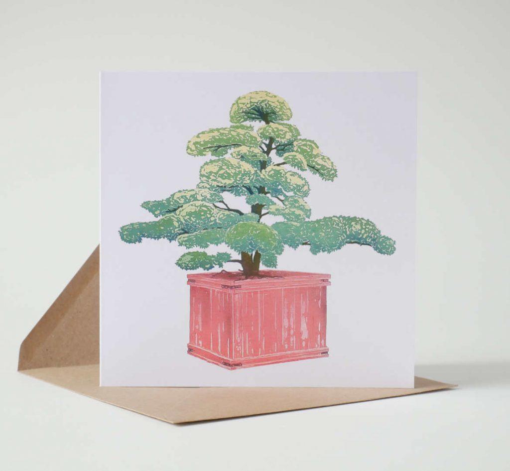 Ilex Crenata Niwaki Greeting Card by Fiona Parrott