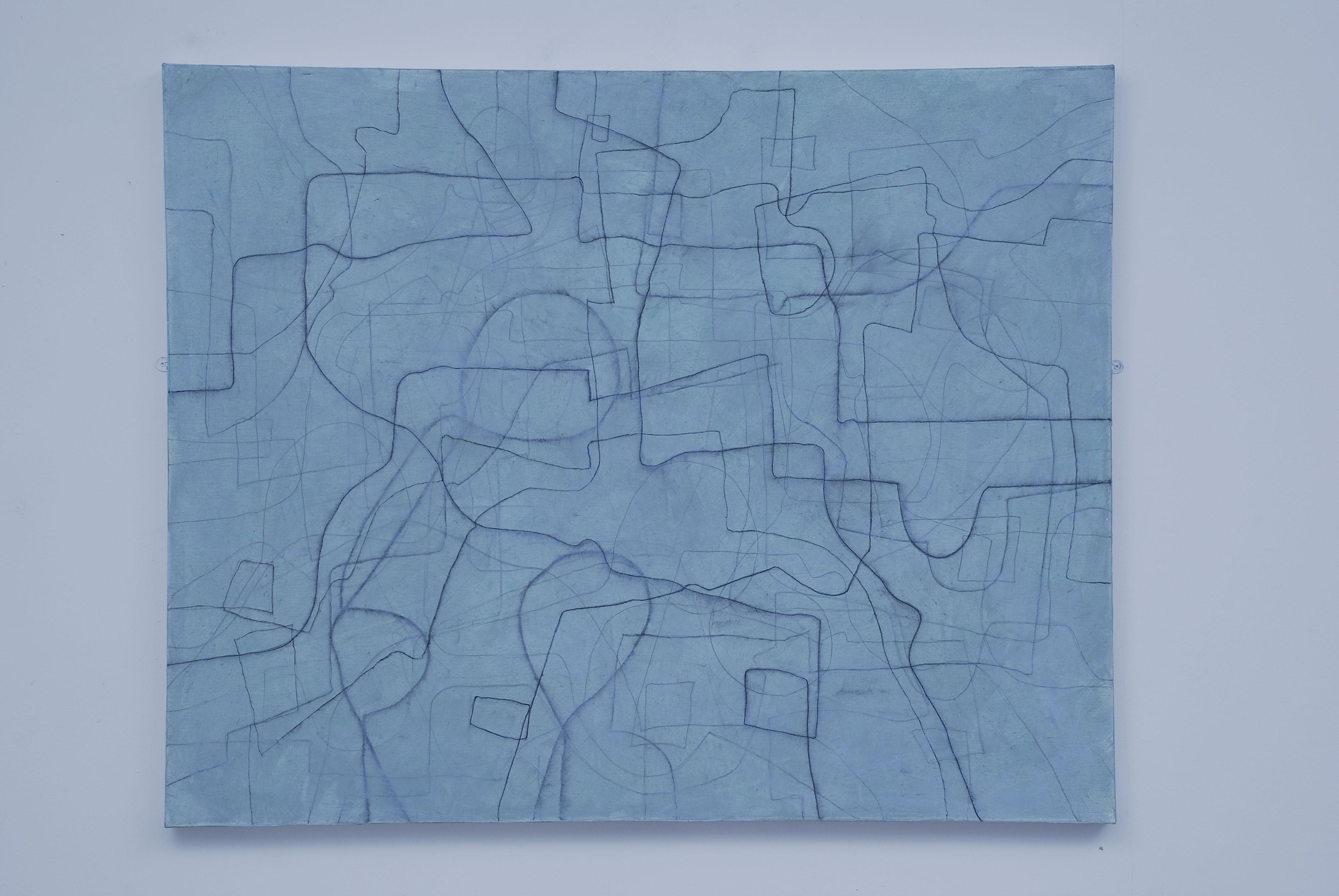 The Circular Walk. Acrylic and charcoal on canvas, 102 x 127 cms. 2007.