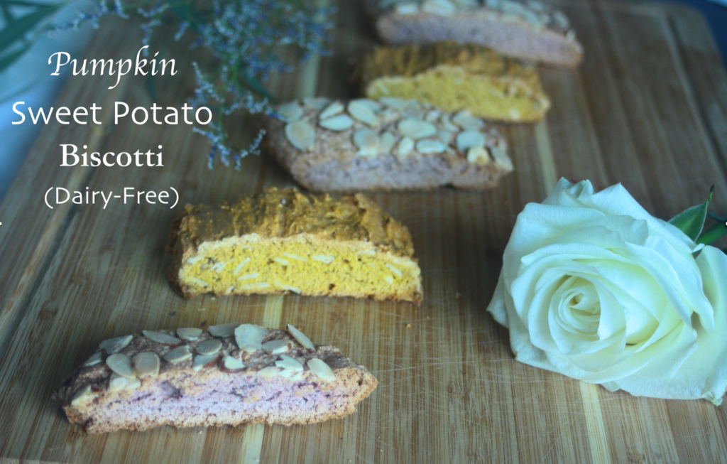 Pumpkin Sweet Potato Biscotti, Dairy Free, Hidden Vegetables