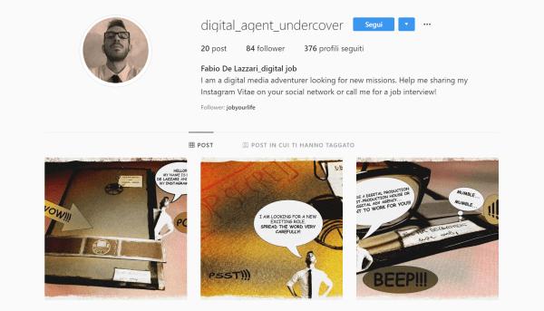 curriculum su instagram