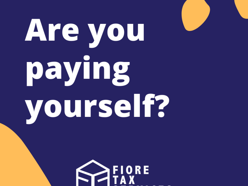 Are you paying yourself?
