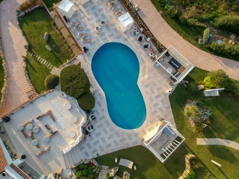 Hotel drone photography