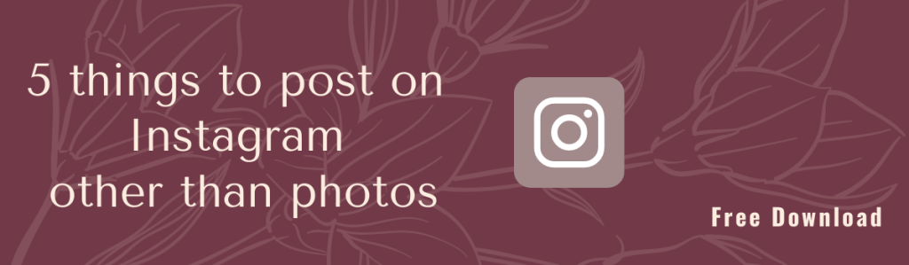 5 things to post on Instagram other than photos