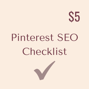 Pinterest SEO Checklist