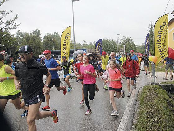 la pioggia sulla maratonina 2017