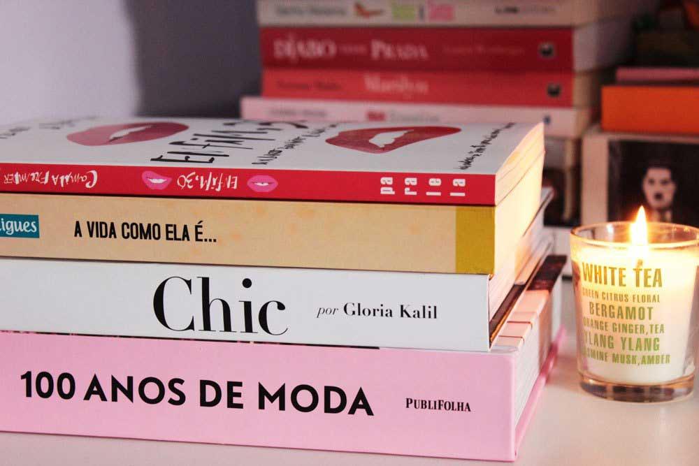 Fotografando minha pilha de livros