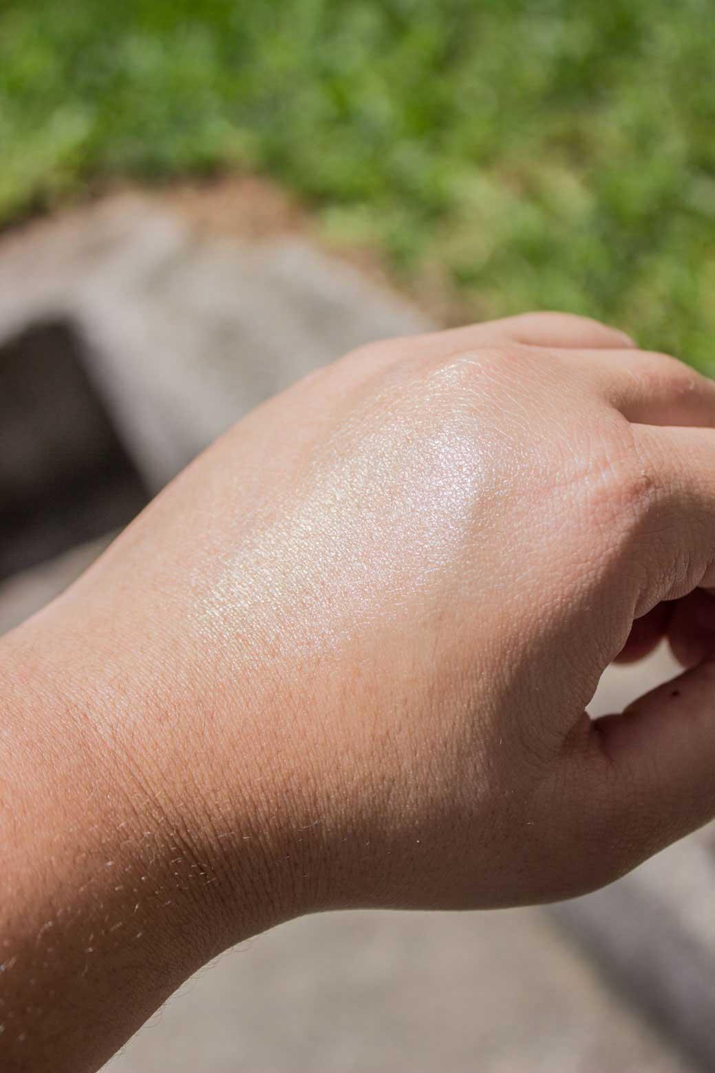 Textura do protetor solar da Nivea