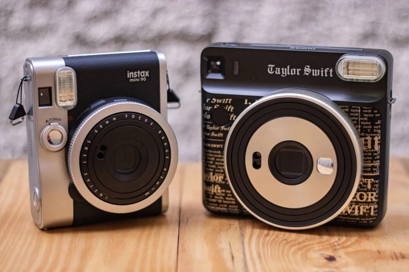 Câmeras lado a lado