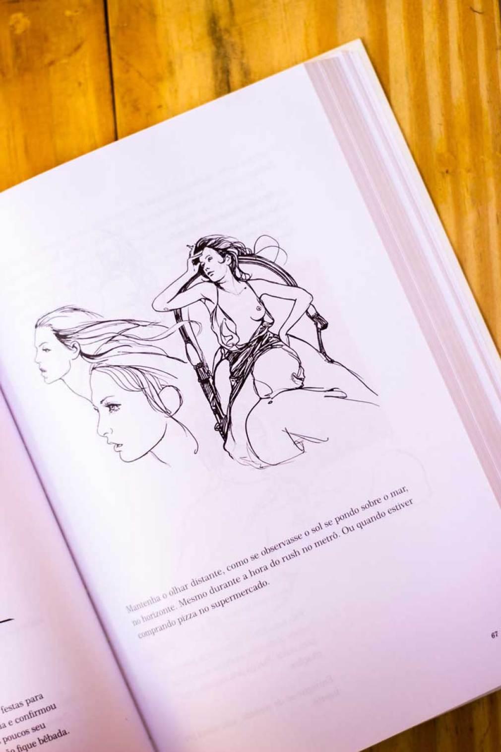Ilustrações do livro como ser uma parisiense