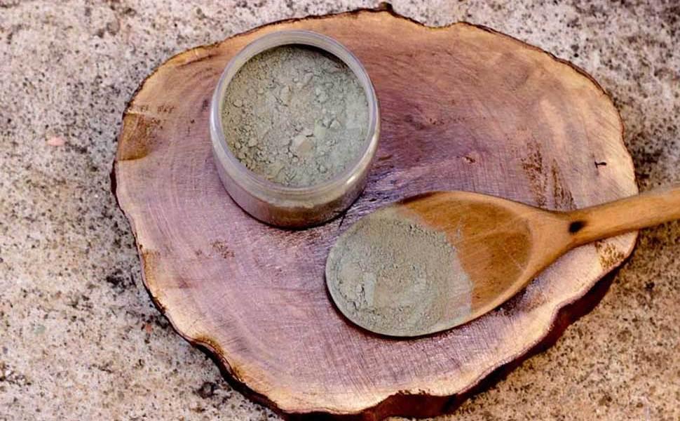 Argila verde para skincare
