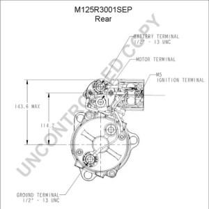M125R3001SEP by LEECE NEVILLE  Heavy Duty Starter Motor