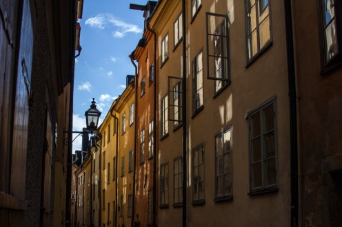 In einer Stockholmer Gasse