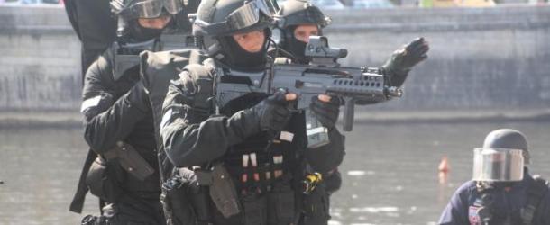Laval : exercice antiterroriste impressionnant au Cinéville