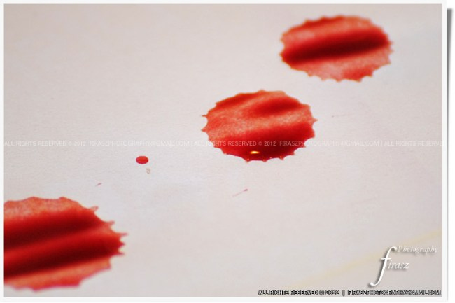 Drops of blood