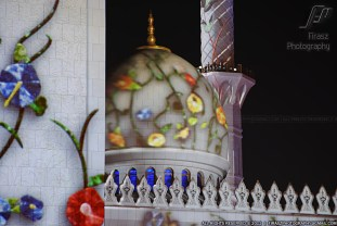 When laser lights beamed on Sheikh Zayed Grand Mosque, Abu Dhabi -2