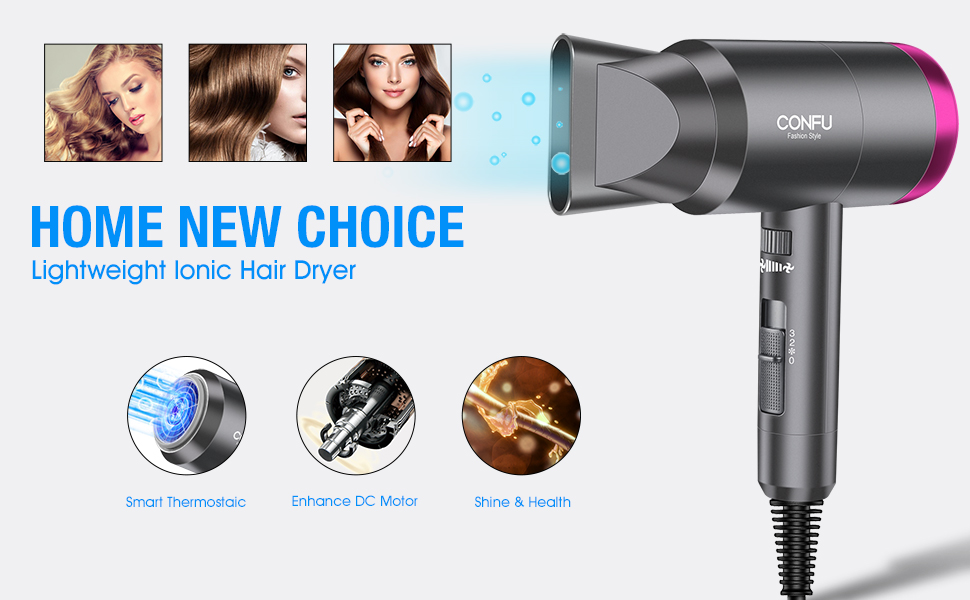 Ionic hair dryer
