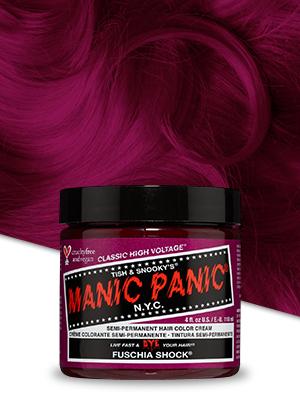 Fuschia Shock hair dye