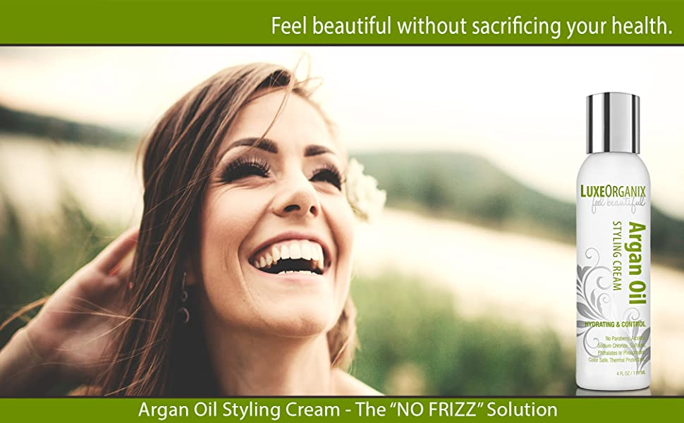 argan oil styling cream, curly hair styling cream, frizzy hair styling cream, hair cream for hair