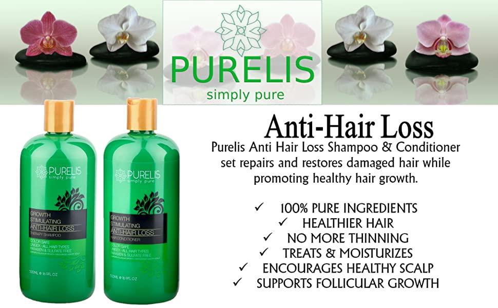 Purelis Anti Hair Loss Shampoo & Conditioner set repairs and restores damaged hair