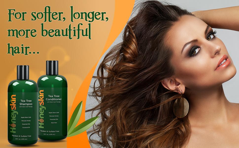 honey skin tea tree shampoo and conditioner
