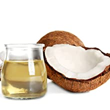Coconut oil shine fatty acids essential oils plant extracts oily clean dry moisture hair care fine