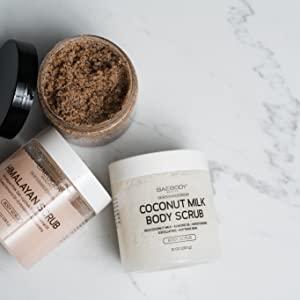 baebody body scrubs natural skincare