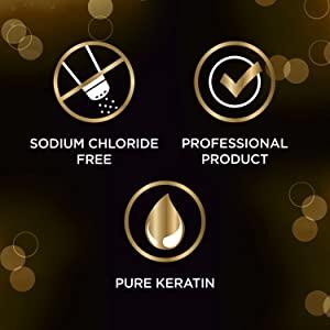 Sodium chloride, professional product & pure keratin
