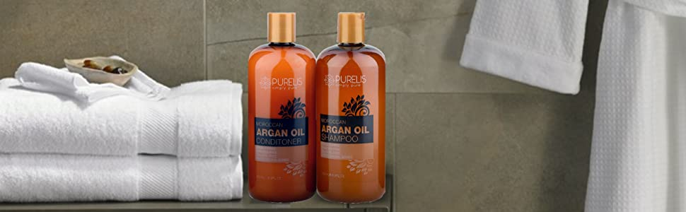 Pure argan oil shampoo and conditioner set