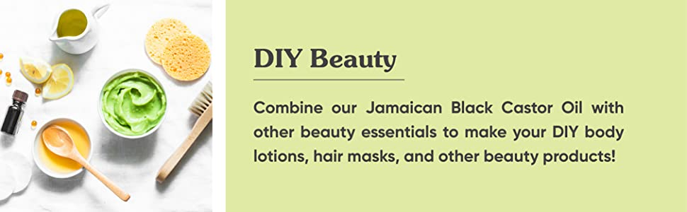 combine castor oil with other beauty essentials to make diy body lotions hair mask . black hair oil