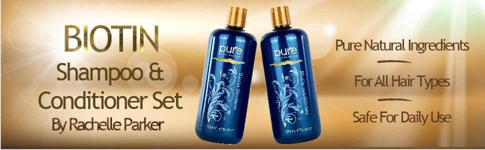 Pure Natural Ingredients  For Damaged or Thin Hair  Safe For Daily Use
