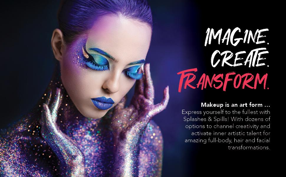 splashes and spills makeup make-up hair dye shampoo color