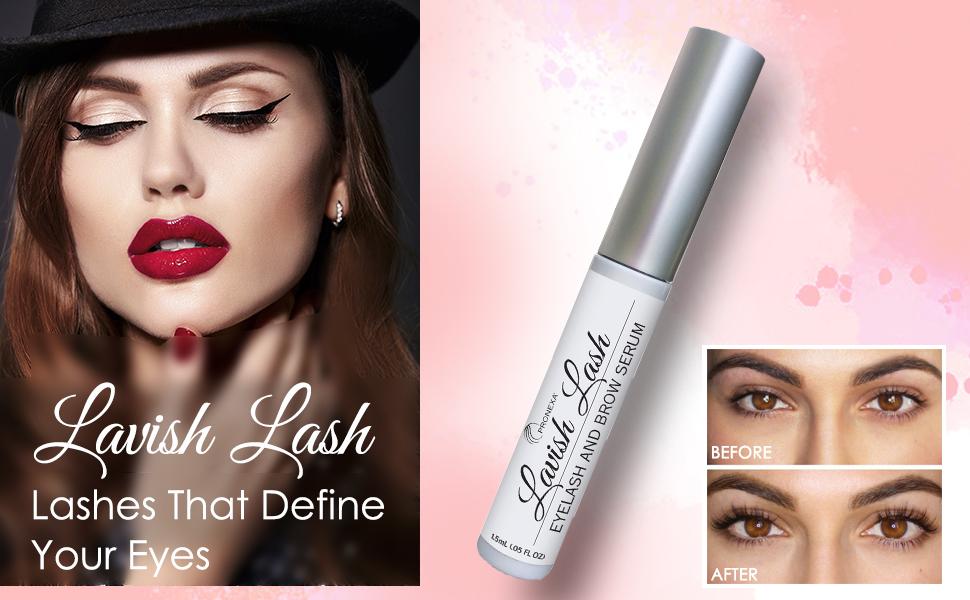 lavish lash boost eyelash eyelashes eyebrows brows growth eye lashes long volume serum