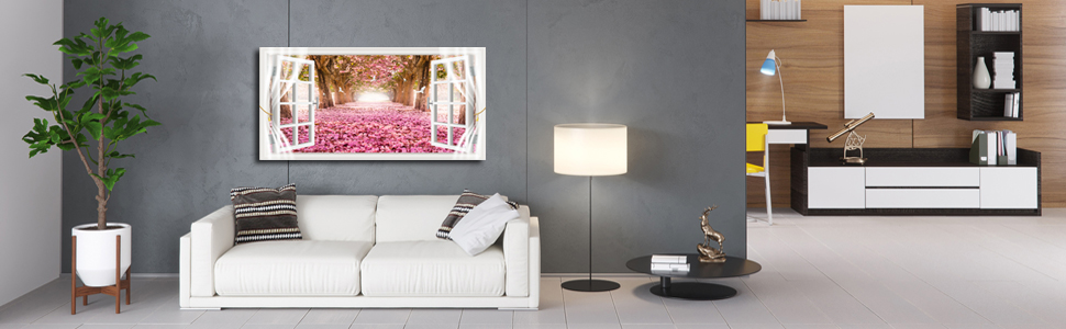 pink flower wall decor