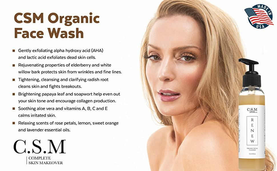 CSM Organic Face Wash Benefits