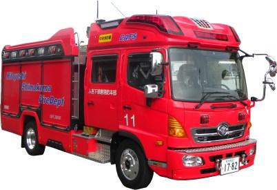 災害対応特殊水槽付消防ポンプ自動車