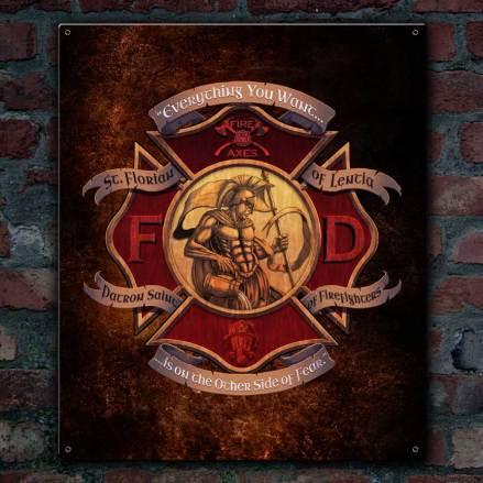 St. Florian Patron Saint Of Fire Fighters Sign - Exclusive Design!