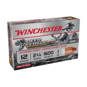 "Winchester Deer Season XP Copper Slugs 12 Gauge 5 RDs 2.75"" Chamber"