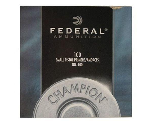 Federal 100 Small Pistol Primer 5000Ct