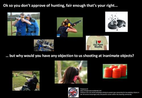 Firearms UK meme on clay pigeon shooting