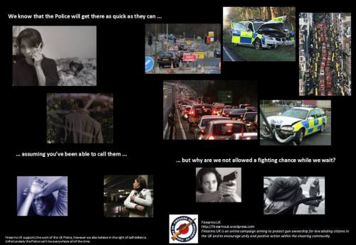 Firearms UK Meme on Armed Self Defense