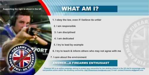 Firearms UK on lawful firearms enthusiasts