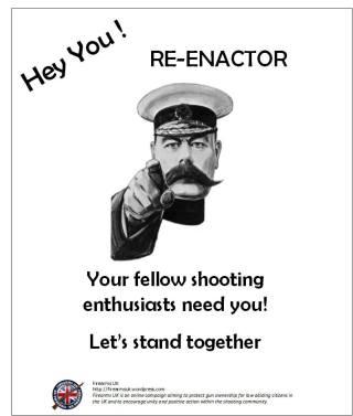 A Firearms UK Unity Series meme on Reenactors