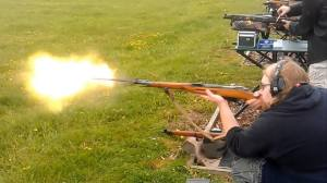 M44 Mosin Muzzle Flash, Photo Courtesy of Ray Brown.